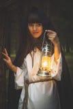 Dziewczyny czarownica z Obraz Royalty Free