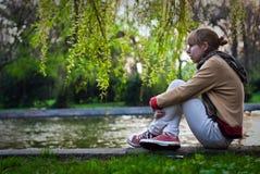 dziewczyny czekanie Fotografia Stock