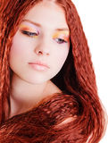 dziewczyny czerwień włosiana ładna obraz stock
