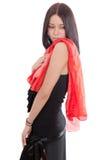 dziewczyny czerwieni szalik Zdjęcie Stock
