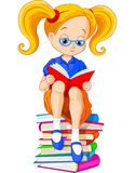 Dziewczyny czytelnicza książka Obrazy Royalty Free