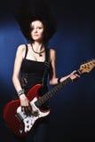 dziewczyny dancingowa gitara Zdjęcie Stock