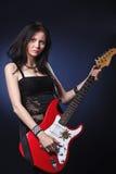 dziewczyny dancingowa gitara Fotografia Stock