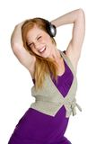 dziewczyny dancingowej muzyki Zdjęcie Royalty Free