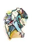 dziewczyny dancingowej pojedynczy white royalty ilustracja