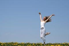 dziewczyny dancingowej się uśmiecha Obrazy Royalty Free