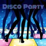 dziewczyny disco strony czerwony Zdjęcie Stock