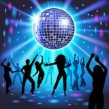 dziewczyny disco strony czerwony Fotografia Stock