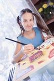 dziewczyny domowa obrazu pozytywu szkoła Zdjęcie Royalty Free