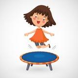 Dziewczyny doskakiwanie na trampoline Zdjęcia Royalty Free