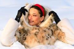 dziewczyny dosyć śnieg obrazy royalty free