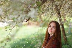 dziewczyny drzewo Obrazy Royalty Free