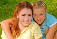 dziewczyny dwa obrazy royalty free