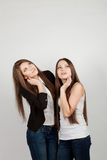 dziewczyny dwa Fotografia Royalty Free