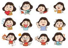 Dziewczyny działająca kreskówka Obraz Stock