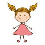 Dziewczyny dziecka ikony wizerunek Zdjęcie Royalty Free