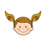 Dziewczyny dziecka ikony wizerunek Fotografia Royalty Free