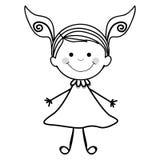Dziewczyny dziecka ikony wizerunek Obraz Royalty Free