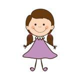 Dziewczyny dziecka ikony wizerunek Obrazy Stock