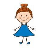 Dziewczyny dziecka ikony wizerunek Zdjęcia Stock