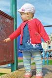Dziewczyny dziecko na boisku Obraz Stock