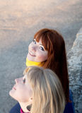 dziewczyny dziewczyna nastoletni dwa Fotografia Royalty Free
