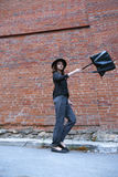 Dziewczyny falowania torba Zdjęcie Royalty Free