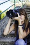 dziewczyny fotografii zabranie obrazy royalty free