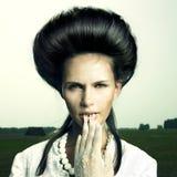 dziewczyny fryzury rocznik Obrazy Royalty Free