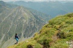 dziewczyny góry wierzchołek Zdjęcie Royalty Free