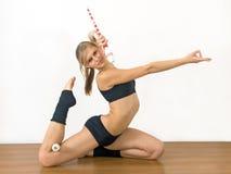 dziewczyny gimnastyczka Zdjęcia Stock