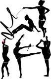 Dziewczyny gimnastyczka Obrazy Royalty Free