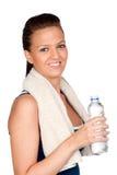 dziewczyny gimnastyk ręcznika woda zdjęcie royalty free