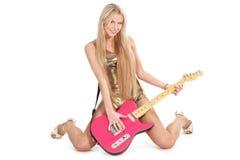 dziewczyny gitara Zdjęcia Royalty Free