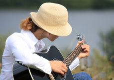 dziewczyny gitara Obrazy Stock