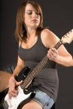 dziewczyny gitara elektryczna Obrazy Royalty Free
