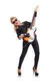 dziewczyny gitara elektryczna Zdjęcia Stock