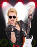dziewczyny gitara elektryczna Obraz Stock