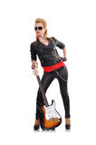 dziewczyny gitara elektryczna Obraz Royalty Free