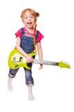 dziewczyny gitary bawić się Zdjęcie Stock