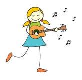 dziewczyny gitary bawić się royalty ilustracja