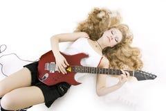 dziewczyny gitary gracz zdjęcia royalty free