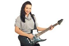 dziewczyny gitary ja target1319_0_ Obraz Stock