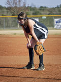 dziewczyny gracza softballa potomstwa zdjęcia royalty free