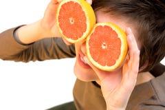dziewczyny grapefruit zdjęcie royalty free
