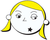 dziewczyny gwiazda rocka Zdjęcie Royalty Free