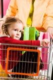 dziewczyny handcart fotografia royalty free