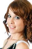 dziewczyny headshot ładni uśmiechnięci potomstwa Obrazy Royalty Free