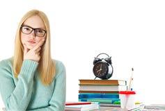 Dziewczyny i biura set Zdjęcie Stock