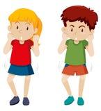 Dziewczyny i chłopiec taniec ilustracja wektor